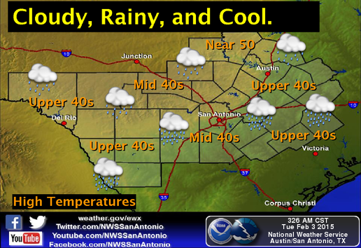 nws  rain returns to south central texas today